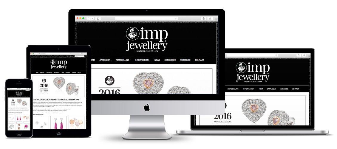 IMP Jewellery website design for cross platform