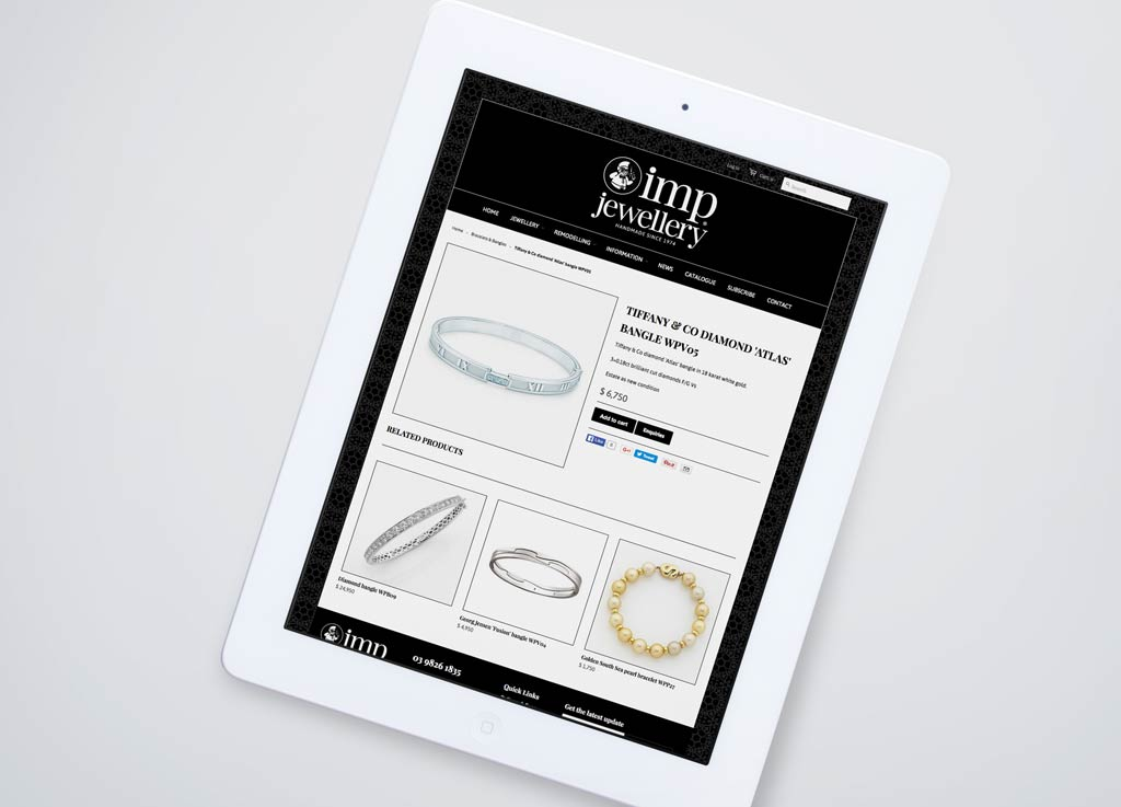 IMP jewellery e-commerce website