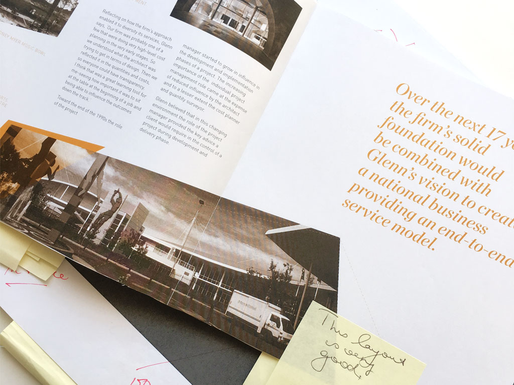 Donald Cant Watts Corke 50 Year Book layout feedbacks