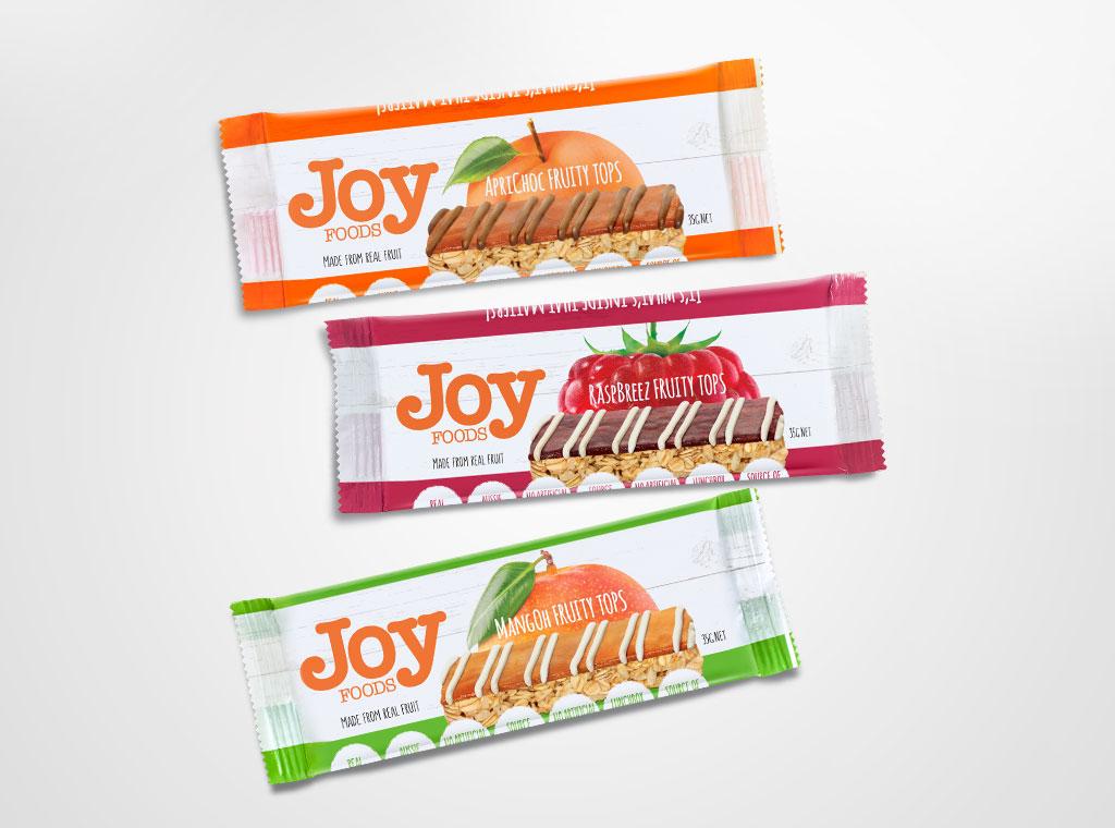 Joy Foods muesli bar rewind design