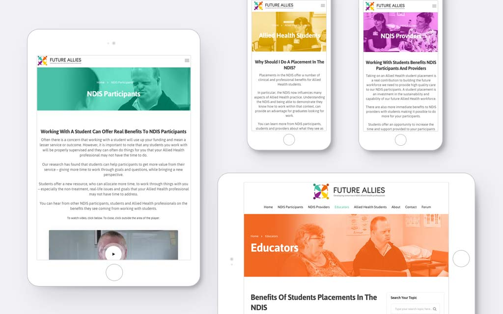 Responsive website layout design for phone & tablet